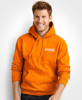 Printed Hoodie sweatshirt, Gildan hooded sweat, screen printing apparel, Artech Promotional wear