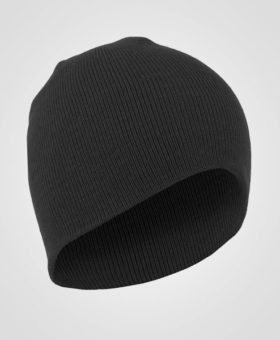 Black short knit acrylic winter hat, Toque, embroid your logo on workwear, custom hats, canada