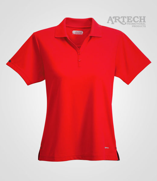 W polo golf shirt team apparel artech custom embroidery for Custom polo shirts canada