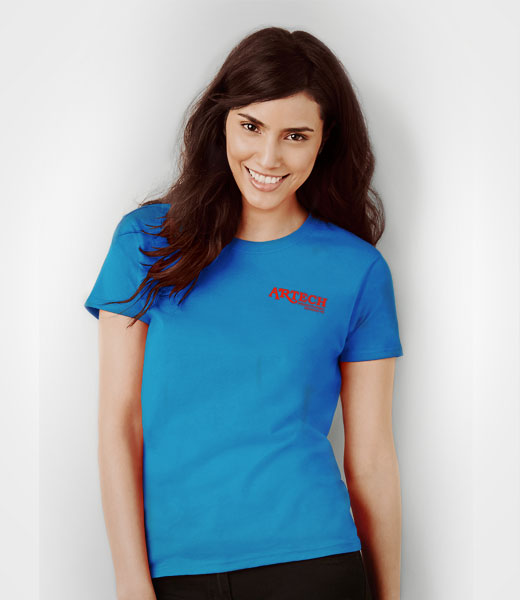 Women's Gildan T-shirt printing, screen printing tshirts, custom t-shirt printing, customize ts, printed t-shirts, merchandise, workweear, promotional clothing toronto, barrie, newmarket, Artech Promotional Products wear