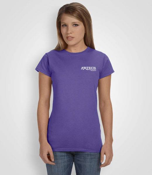Women's Gildan Softstyle T-shirt printing, screen printing tshirts, custom t-shirt printing, customize ts, printed t-shirts, merchandise, workweear, promotional clothing toronto, barrie, newmarket, Artech Promotional Products wear