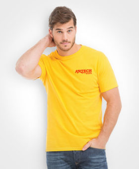 Unisex soft touch t-shirt, custom embroidery, workwear, event clothing, artech promotional apparel, barrie, newmarket, orillia, muskoka, t-shirt printing toronto