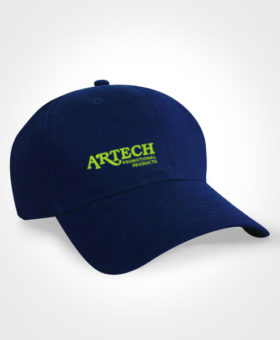 Custom promotional headwear, cap, custom hats, embroidered logo hat, lightweight promotional hat wear, artech promotional clothing, promotional hats
