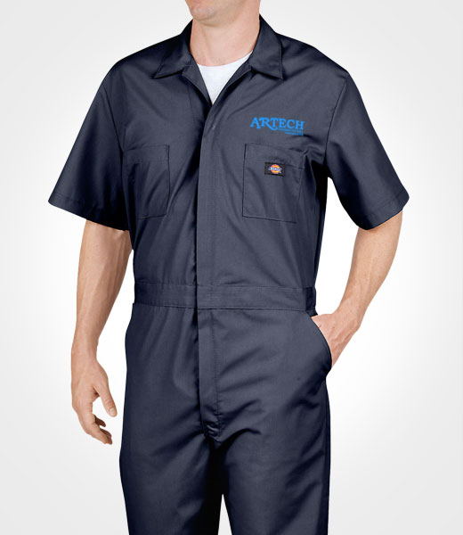 Dickies Coveralls, workwear, manufacturing uniform, overalls, mechanic clothing, custom embroidery, workers apparel, barrie, peterborough, orillia, muskoka, newmarket, innisfil, artech promotional wear
