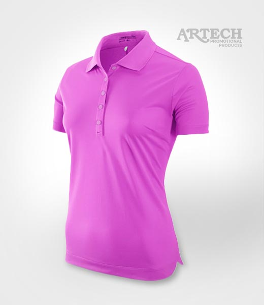 Nike Golf women's polo Shirt, custom embroidery, promotional gold polo, artech apparel