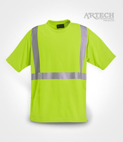High visibility wicking t shirt artech construction for Custom t shirts edmonton