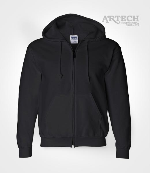 Gildan Dryblend full zip hoodie, promotional apparel, wear, team uniform, workwear, merchandise clothing, custom apparel services, embroidered logo