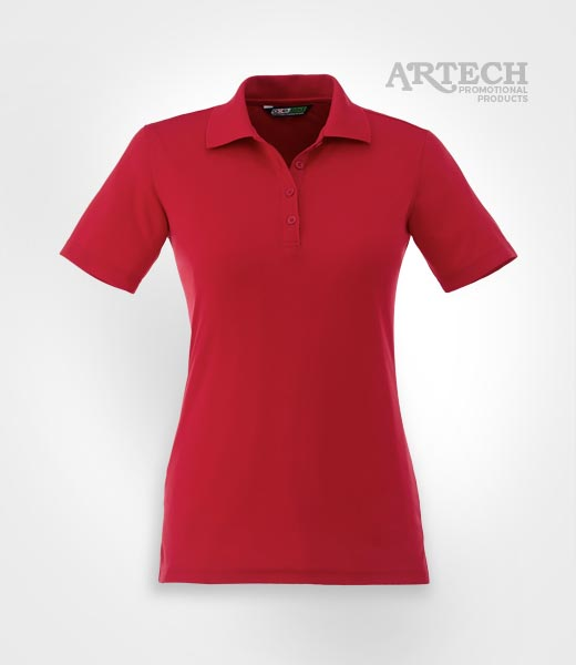 Ladies golf performance polo custom embroidery artech for Custom polo shirts canada