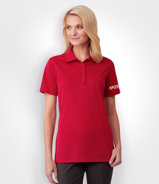 Ladies golf polo shirt, promotional wear, sales uniform, canada sports wear, promotional apparel, artech custom embroidery, barrie, workwear, orillia, peterborough, newmarket, muskoka, collingwood