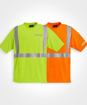 Safety t-shirt, High visibility t shirts, construction t shirts, 3M reflective strips, construction clothing, uniforms, promotional workwear, Artech promotional wear, orillia workwear, bracebridge, peterborough, barrie, bradford, innisfil, collingwood, printed promotional wear, custom embroidery, printed promotional wear