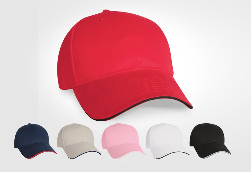Brushed cotton sandwich cap, promotional giveaways, corporate workwear, gifts, artech promotional wear, custom hats, embroidered apparel, workwear, logo on hat, custom cap, orillia, barrie, newmarket, muskoka, peterborough, collingwood ontario