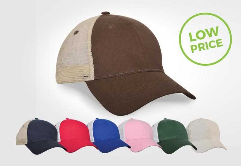 Mesh Back Trucker hat, promotional giveaways, corporate workwear, gifts, artech promotional wear, custom hats, embroidered apparel, workwear, logo on hat, custom cap, orillia, barrie, newmarket, muskoka, peterborough, collingwood ontario