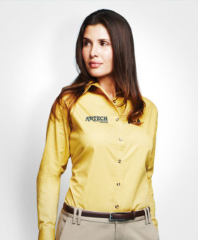 Women's business shirt, corporate wear, corporate apparel, logo embroidery, artech promotional wear, dress shirt, barrie, orillia, peterborough, kawartha lakes, midhurst, collingwood, midland, innisfil, bradford, newmarket, Toronto, promotional workwear, uniform shirt, Ladies Corporate wear, women's Dress shirt