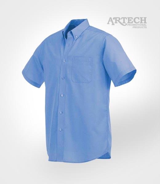 Men 39 s short sleeve dress shirt branded corporate for Corporate shirts with logo