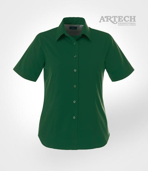 Women 39 s dress shirt embroidered promotional apparel and for Corporate shirts with logo