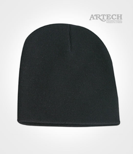 Winter Hat - Long Knit Toque + Custom Embroidered logo  5ab79e5dd11