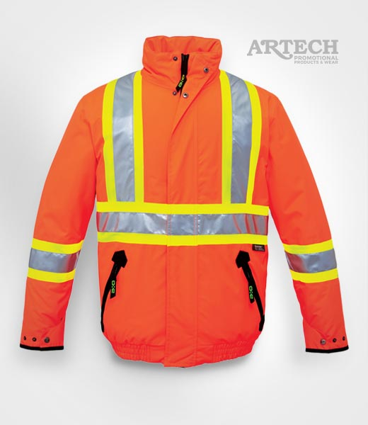 High Vis Insulated Jacket    Buy Blank or Customize with