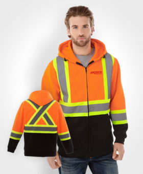 high-vis hoodie, construction hoodie, safety wear, high vision clothing, construction clothing, construction wear, 3M reflective uniform, hi-vis gear, muskoka, barrie, orillia, newmarket, bradford, innisfil, toronto, kawartha lakes, peterborough, collingwood