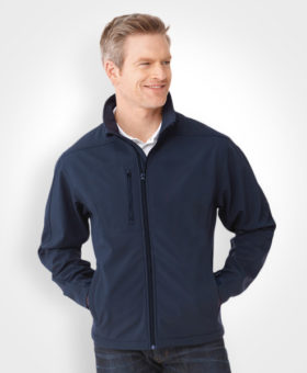 Men's Softshell Jacket, promotional apparel, custom embroidery, artech promotional products & wear, custom jackets, outerwear, peterborough, barrie, orillia, muskoka, toronto, newmarket innisfil, workwear, softshell jacket, logo apparel, custom embroidery