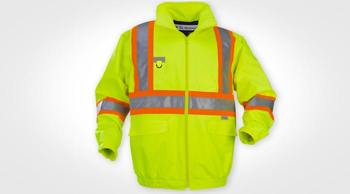 sumaggo Safety Construction jacket, Cheap construction wear, custom safety wear, uniforms, high vis tee, high vis t-shirts, construction t-shirt, custom screen printing, custom embroidery, printed uniforms, screen printing barrie, orillia, bradford, muskoka, peterborough, collingwood, midland, newmarket